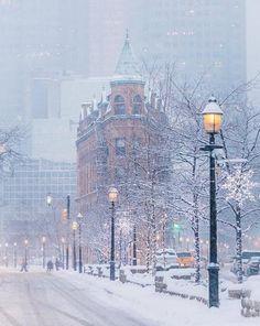 Winter in Toronto, Canada 🇨🇦 Winter Szenen, Winter Magic, Winter White, Toronto Winter, Toronto Canada, Canada Ontario, Toronto Snow, Image Nature, Snowy Day