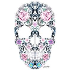 Art Collective Magazine @art_collective_mag Pretty Skull #pai...Instagram photo | Websta (Webstagram)