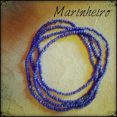 Os colares dos orixás podem ser de uma só cor.
