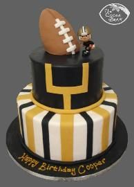 New Orleans Saints Birthday Cake Sports Themed Cakes Sweet 16 Icing Recipe