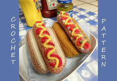 Hot Dog PDF Crochet Pattern by luvbug026 on Etsy, $3.99