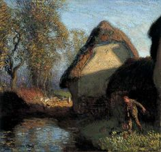 At the Back of the Barn - Sir George Clausen (1902)