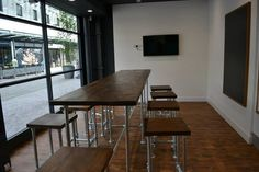 Large Scaffold Style Dining Table/ Boardroom Table  This impressive dining table is produced using 33.7mm galvanised scaffold pole for a chunky
