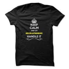 awesome I love HECKATHORNE T-shirts, It's an HECKATHORNE thing, Name T-Shirts