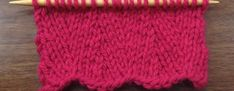 Learn how to knit the Vertical Herringbone Stitch