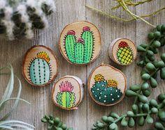 Conjunto de imán de cactus por katiefavors en Etsy