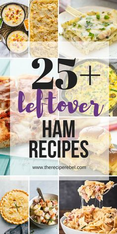 These leftover ham recipes are the perfect ways to use up your extra holiday ham! Soups, sandwiches, breakfast, casseroles, pastas and more! Recipe For Canned Ham, Recipes With Cooked Ham, Recipes Using Ham, Gammon Recipes, Pork Recipes, Cooking Recipes, Ham Bone Recipes, Cookbook Recipes, Dip Recipes