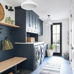 """Explore our site for additional relevant information on """"laundry room storage diy shelves"""". It is an exceptional spot to read more. Blue Laundry Rooms, Mudroom Laundry Room, Laundry Room Layouts, Laundry Room Remodel, Laundry Room Cabinets, Farmhouse Laundry Room, Laundry Room Organization, Laundry Room Design, Mud Rooms"""