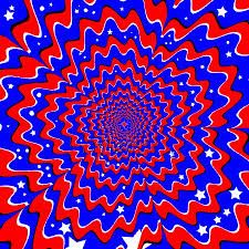 Image result for red and blue illusion pictures
