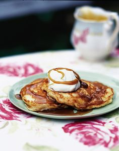 This quick pancake recipe is great for breakfast, or as a pudding served with maple syrup and vanilla ice cream.
