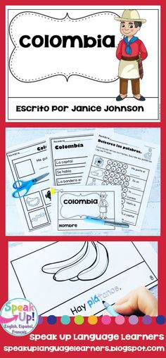 Colombia Reader {en español} & Vocab pages ~ Simplified for Language Learners Spanish Immersion, Spanish Speaking Countries, Spanish Culture, Emergent Readers, Dual Language, Spanish Classroom, Student Reading, How To Speak Spanish, Vocabulary