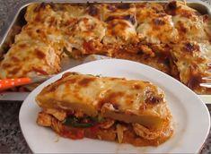 Πατάτες με κοτοπουλο και μπεσαμελ Cookbook Recipes, Cooking Recipes, Lasagna, Food And Drink, Chicken, Ethnic Recipes, Foods, Meals, Drinks