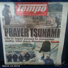 今日のフィリピンの新聞の一面 #tsunami #earthquake #disaster #japan #pray