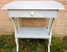 Vintage accent parlor table French chic chalk by OverboardStudio, $145.00