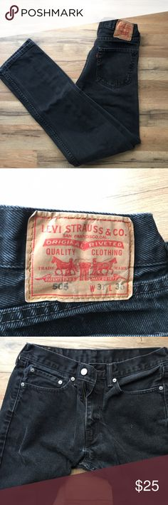 Levi's 505 regular fit jeans Some signs of wear, especially in edges of seams. Good condition, no major flaws. Hard to find size - 31 x 36 Levi's Jeans Straight