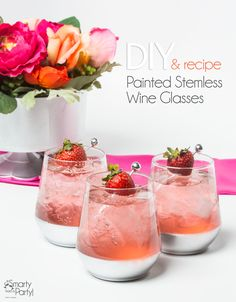 DIY Painted Stemless