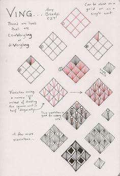 Ving. Tangle Pattern by Amy Broady, CZT / Tanglefish.