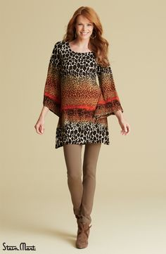 Take a walk on the wild side with our Animal Print Tunic