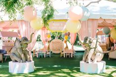 Welcome to Alique's Carnival! Pastel pretty and wildly fun, this party offered party guests the chance to win prizes at bunch of… Circus 1st Birthdays, Carousel Birthday Parties, Backyard Birthday Parties, Carnival Themed Party, Safari Birthday Party, Carnival Themes, Circus Birthday, Disneyland Birthday, Circus Party