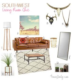 Southwest living room mood board. 4men1lady.com