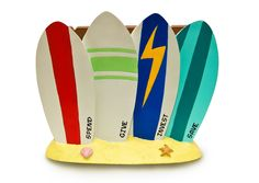 "Surf Coin Bank - Coin Bank for Kids - Teach Financial Literacy for Teens - Perfect Kids Money Bank - Piggy Bank of the Future by Money Scholar. Teaches children the Money Scholar System of ""SAVE-INVEST-GIVE-SPEND."". Piggy bank for a new generation. Surf Bank has 4 distinct chambers on each surfboard. As seen in Oprah's Magazine issue 'My Favorite Things.'. Hand painted poly resin."