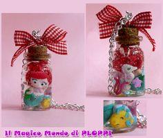 ARIEL in a jar Necklace bottle by ~MagicoMondoDiPLOPPI on deviantART