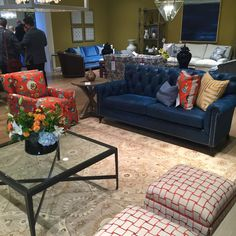 Arianne Bellizaire Inspired To Style Design Trends HPMKT High Point Market  Color Combo Blue Orange Elite