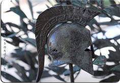 GREEK SPARTIAN SOLID BRONZE HELMET by piscesandfishes @piscesandfishes @sunsan