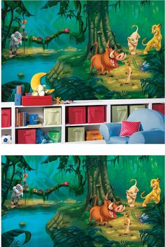 The Lion King XL Mural - Wall Sticker Outlet