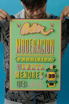 Typography lover by Pablo Alfieri, via Behance- because it was done traditionally