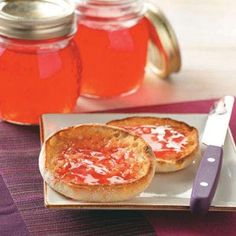 Wild Plum Jelly...I may try to can this, this year. That way the wild plums do not go to waist.