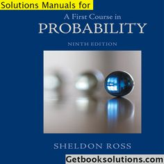 Pin On A First Course In Probability 9th Edition By Sheldon Ross Solution Manual