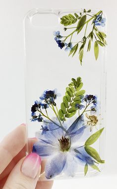 Botanical Iphone Case 11 Pressed flower phone case Custom Iphone 8 Galaxy Blue Cover Delphinium Flower Art Botany Lover Forget me not Art Phone Cases, Diy Phone Case, Iphone Cases, Phone Cover, Delphinium Flowers, Airpods Apple, Aesthetic Phone Case, Flower Art, Creations
