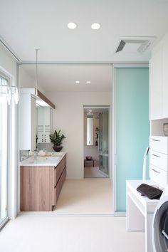 土浦展示場 | 茨城県 | 住宅展示場案内(モデルハウス) | 積水ハウス Retro Apartment, Sister Home, Drying Room, Laundry Room Bathroom, Laundry Rooms, Happy Home Designer, Ideal Home, Cozy House, House Plans
