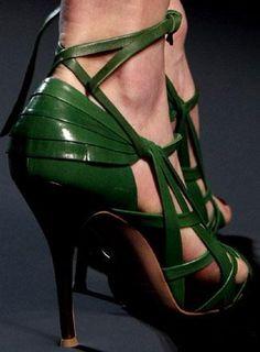 accessoires de mode : chaussures, Jean Paul Gaultier, SS 2010, vert
