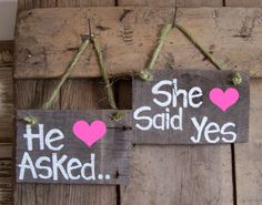 Hey, I found this really awesome Etsy listing at http://www.etsy.com/listing/154100831/reclaimed-he-asked-she-said-yes-wood