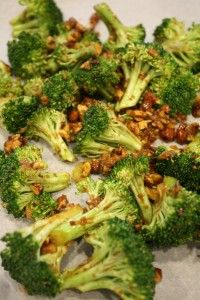 broccolli and toasted almonds