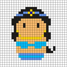 Jasmine (Aladdin) Perler Bead Pattern