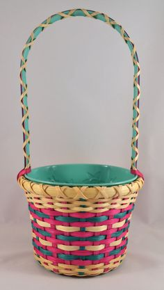 Girl's Easter Basket Hand Woven with Pink by BrightExpectations