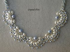 Pearl filigree Jaycee Pattern  http://lesperlescrystaldoz.blogspot.be/search/label/Collier