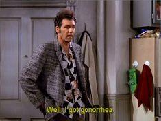 Kramer goes to acting school for doctor training Good Night Everybody, Procrastination Humor, Seinfeld Quotes, King Of Queens, Fun World, Spongebob Memes, Morning Humor, Top Gear, Marceline
