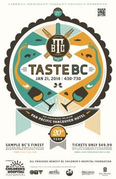 Taste BC begins Tue, 21 Jan 2014 at Pan Pacific Hotel #Food and Drink, Fundraiser Vancouver