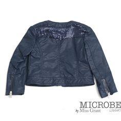 Eco læder jakke med pailletter