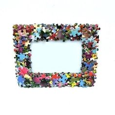 Your place to buy and sell all things handmade Puzzle Piece Crafts, Puzzle Pieces, Home Crafts, Crafts For Kids, Diy Crafts, Girly Games, Picture Frame Crafts, Heart Crafts, Diy Frame