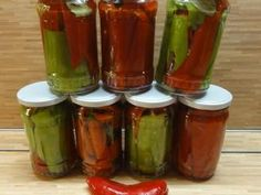 Pickles, Cucumber, Med, Stuffed Peppers, Vegetables, Red Peppers, Stuffed Pepper, Vegetable Recipes, Pickle