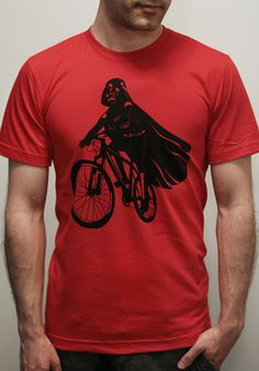 Darth Vader is Riding It - Mens t shirt / Unisex t shirt printed with ECO ink ( Star Wars / Darth Vader bike t shirt) on Etsy, $23.00