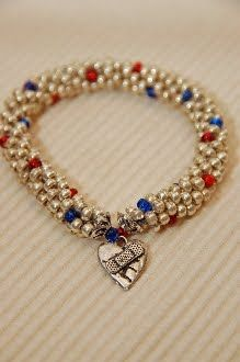 CHD Awareness Bracelet from Cathy's Creations (giveaway and for purchase)