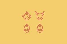 Merry Christmas | Line Icon Set by tesko on Creative Market