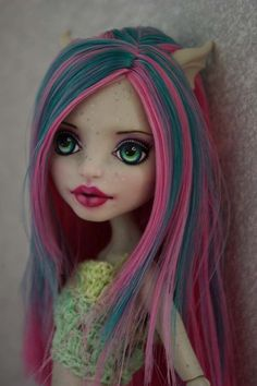 OOAK Monster High Rochelle Goyle custom Repaint by Hyangie