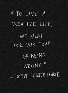Live a creative life. #quotes